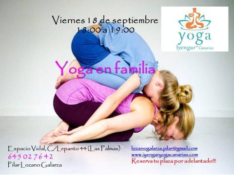 Cartel: Taller Yoga en Familia