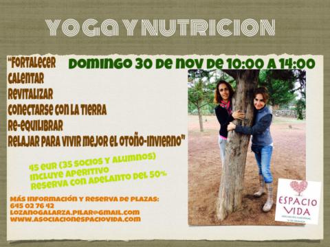 Cartel - Yoga y nutrición