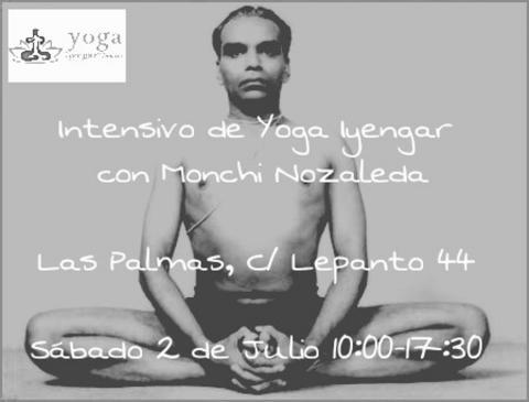 Cartel: Intensivo de Yoga Iyengar con Monchi Nazaleda