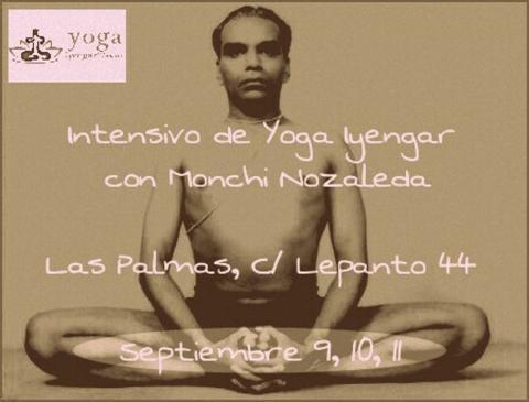 Cartel - Intensivo de Yoga Iyengar con Monchi Nazaleda